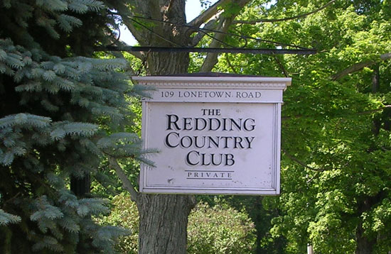 Redding Country Club Sign