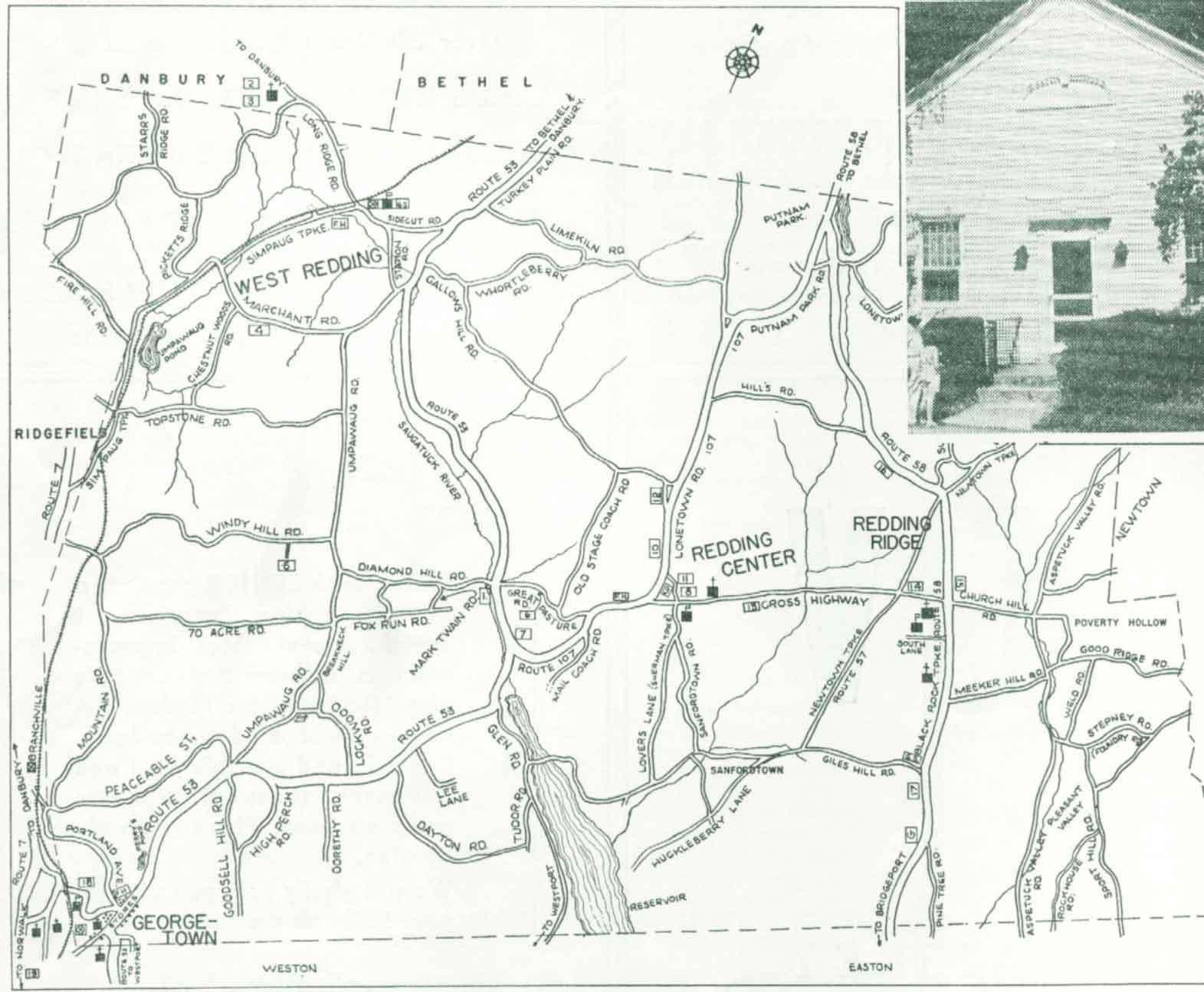 Maps of Redding Connecticut CT